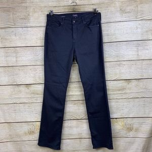 NYDJ Marilyn Straight Leg Dark Gray NWOT Jeans 14